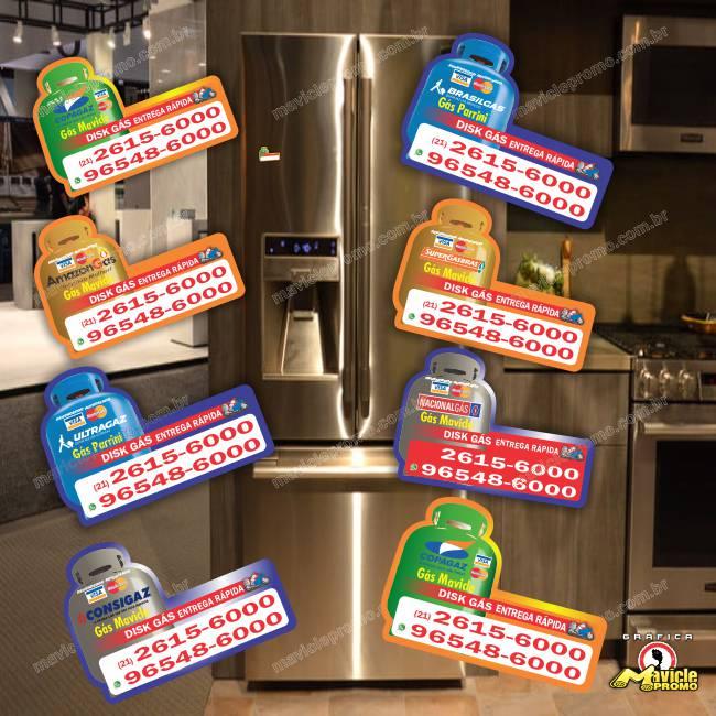 Ímã de Geladeira Botijão de Gás Barato para gerar VENDA   Imã de geladeira e Gráfica Mavicle Promo