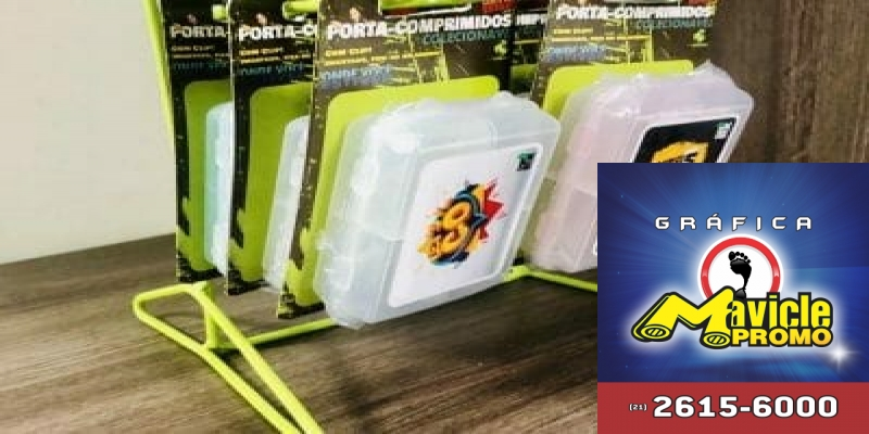 Porta comprimidos clip ima ourbox display